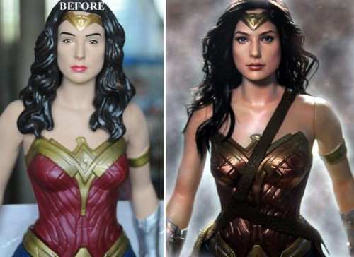 wonderwomanbigfigsrepaint_beforeafter